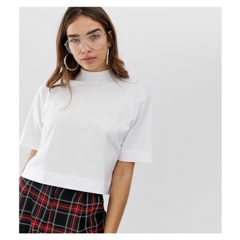 COLLUSION boxy short sleeve t-shirt with high neck