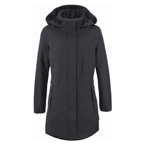 JACK WOLFSKIN Płaszcz outdoor 'Madison Avenue' czarny
