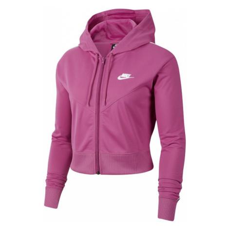 Damska bluza z kapturem i zamkiem na całej długości Nike Sportswear - Różowy