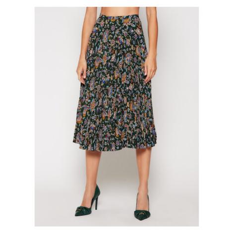 Lauren Ralph Lauren Spódnica plisowana Pine Multi 200816668001 Zielony Regular Fit