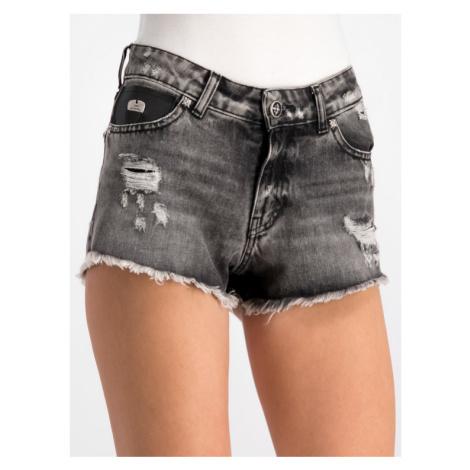 John Richmond Szorty jeansowe RWP19239SH Szary Slim Fit
