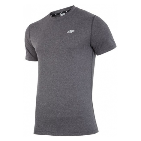 4F męska koszulka H4Z17 TSMF001 ciemny szary melanż