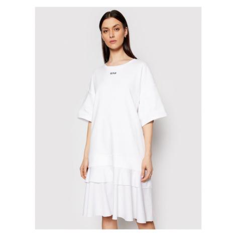 Ice Play Sukienka dzianinowa 21E U2M0 H191 P434 1101 Biały Regular Fit