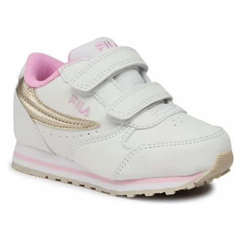 Sneakersy FILA - Orbit Velcro Infants 1011080.00I White/Gold