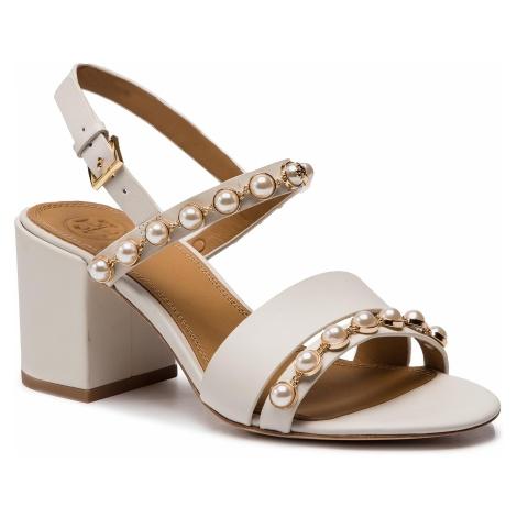 Sandały TORY BURCH - Emmy 65mm Pearl Sandal 55043 Linen White 157