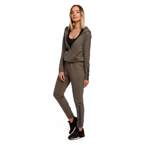 Made Of Emotion Woman's Trousers M553 Khaki