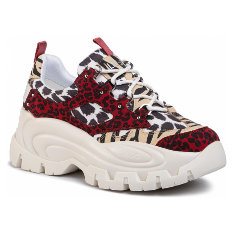 Sneakersy LIU JO - Wave 01 BA0023 EX023 Black/Red S19B9