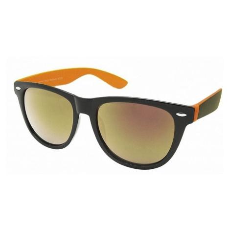 okulary Ray Flector W2236/Classic Fashion 2 Tone Mirrored - Black/Orange