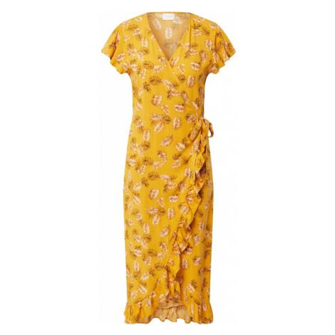 VILA Sukienka 'Maskblini' żółty / pomarańczowo-czerwony