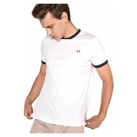 Fred Perry Ringer Koszulka Biały