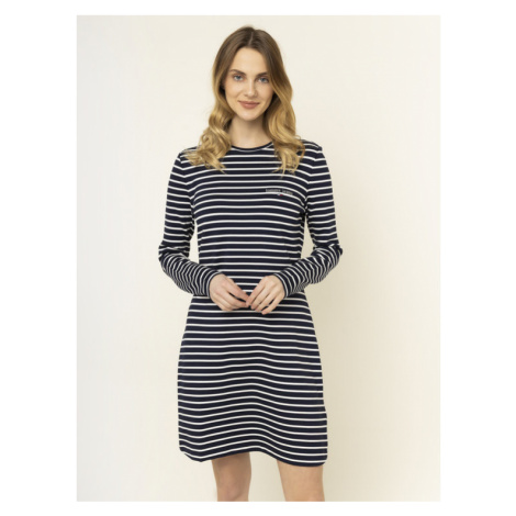 Tommy Jeans Sukienka dzianinowa Tjw Essential Stripe DW0DW07606 Granatowy Regular Fit Tommy Hilfiger