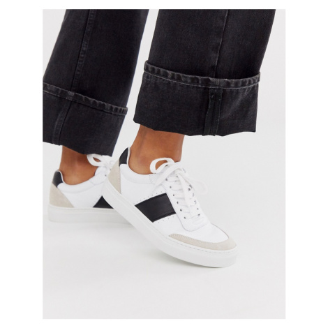 Whistles york side stripe leather trainer