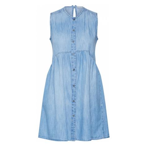 EDC BY ESPRIT Sukienka 'MidWashCotton' niebieski denim