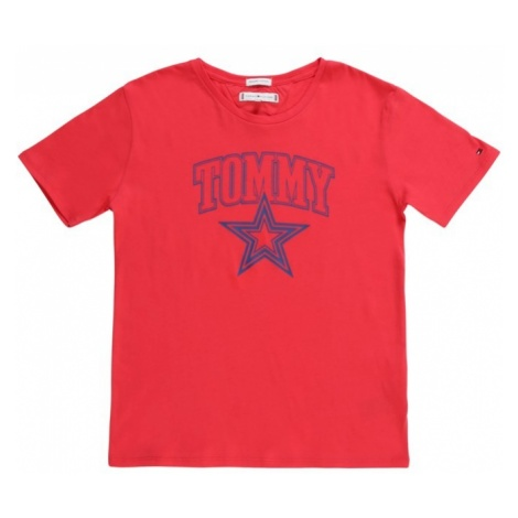 TOMMY HILFIGER Koszulka 'ESSENTIAL TOMMY STAR TEE S/S' czerwony