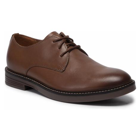 Półbuty CLARKS - Pulson Plain 261447967 Tan Leather