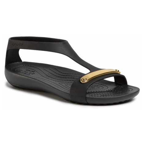 Sandały CROCS - Serena Metallic Bar Sdl W 206421 Gold/Black