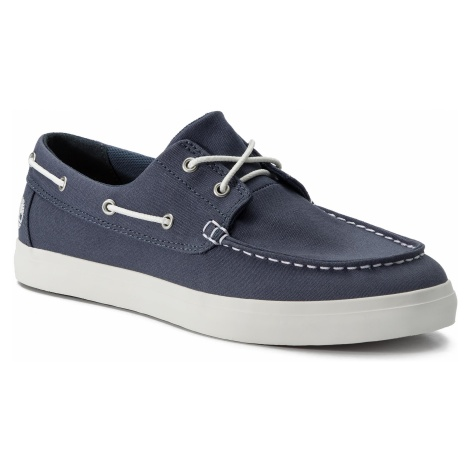 Mokasyny TIMBERLAND - Union Wharf 2 Eye Boat Ox TB0A1XEU4321 Dark Blue Canvas