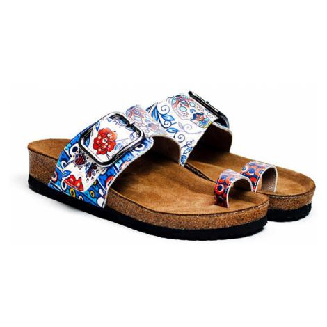 Calceo niebieskie klapki Thong Sandals Blue Dream