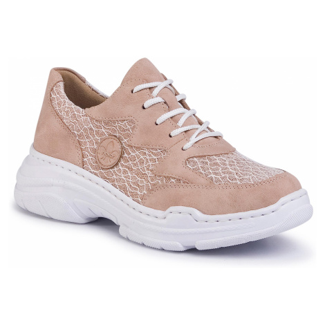 Sneakersy RIEKER - 57023-62 Beige