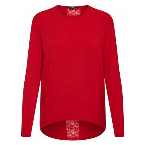 ONLY Koszulka 'ONLBEA L/S LACE DETAIL TOP JRS' czerwony