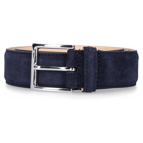 Crockett & Jones Mężczyźni Pasek 8501S zamsz niebieski