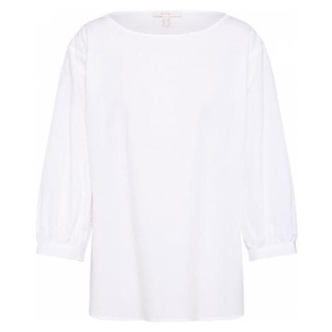 ESPRIT Bluzka 'Yd Co Solid' biały