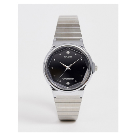 Casio Analogue diamond watch in silver