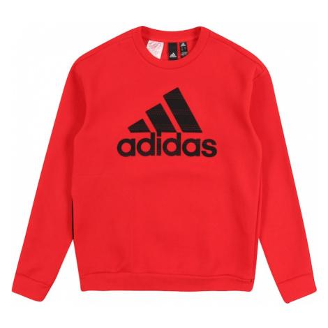 ADIDAS PERFORMANCE Bluza sportowa czarny / czerwony