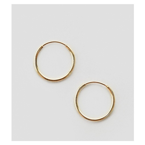 ASOS DESIGN sterling silver with gold plate sterling silver 9mm fine hoop earrings