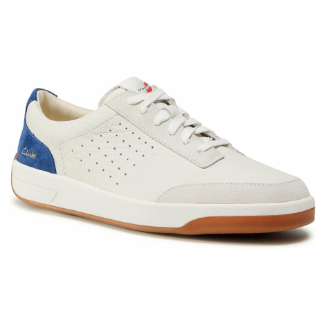 Sneakersy CLARKS - Hero Air Lace 261528857 White/Blue