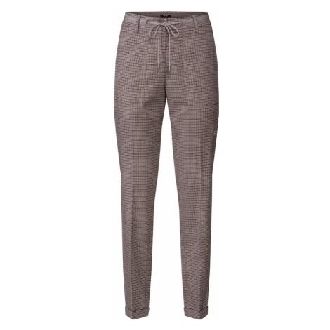 OPUS Spodnie w kant 'Moya' brązowy / czarny