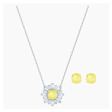 Zestaw Sunshine, biały, różnobarwne metale Swarovski
