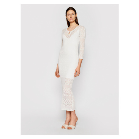 Guess Sukienka dzianinowa W1GK84 Z2U50 Biały Slim Fit