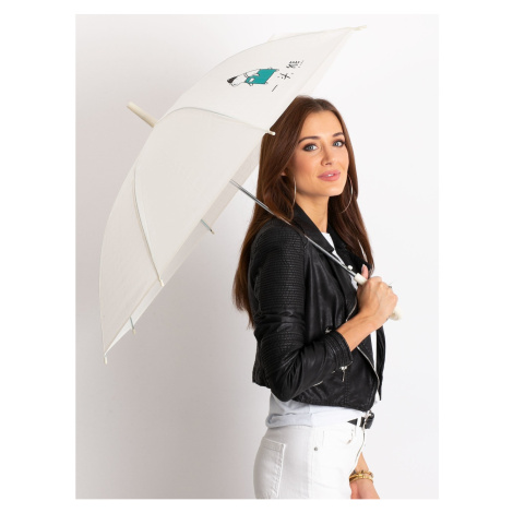 Parasol damski z nadru ecru