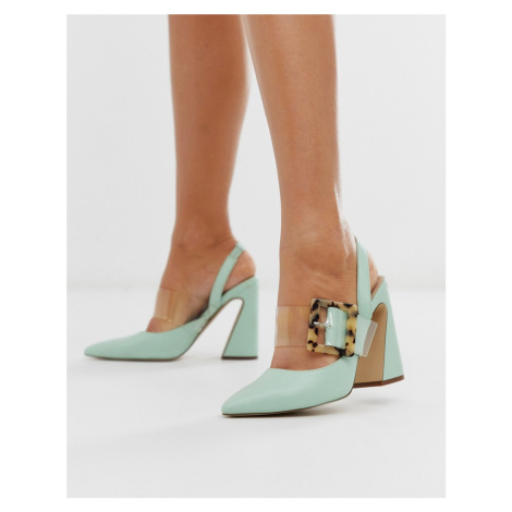 ASOS DESIGN Program block heeled high shoes in mint