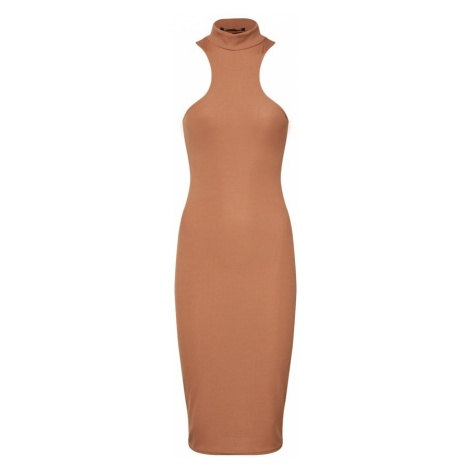 Missguided Sukienka 'Ribbed Racerback Midi Dress' piaskowy