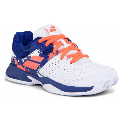 Buty BABOLAT - Pulsion All Court Jr 32S20482 White/Dazzling Blue
