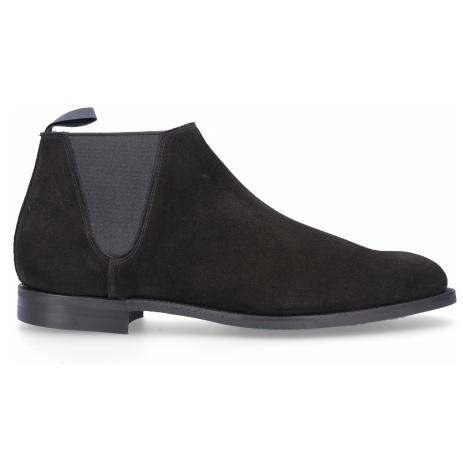 Crockett & Jones - Buty Chelsea Boots CRANLEIGH  zamsz czarny