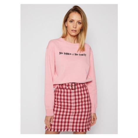 Pinko Bluza Algebra PE 21 PRR 1N1343 Y7ED Różowy Regular Fit