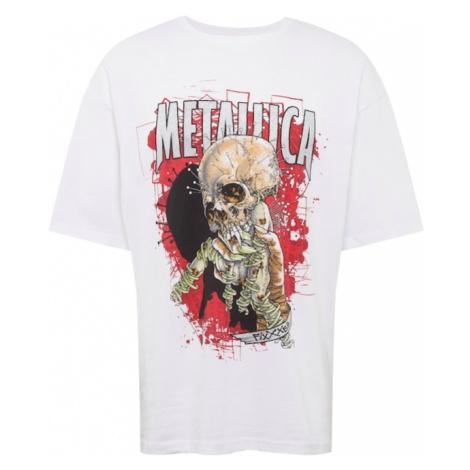 JACK & JONES Koszulka 'METALLICA' mieszane kolory / biały