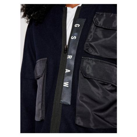 G-Star Raw Kurtka bomber 3D Pocket Wool D17497-B965-4213 Granatowy Regular Fit