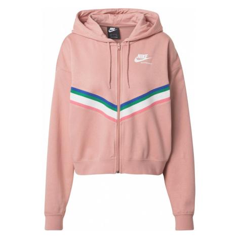 Nike Sportswear Bluza rozpinana różany / mieszane kolory