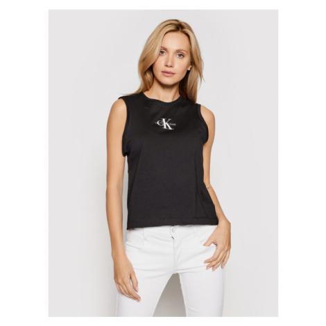Calvin Klein Jeans Bluzka J20J216578 Czarny Regular Fit