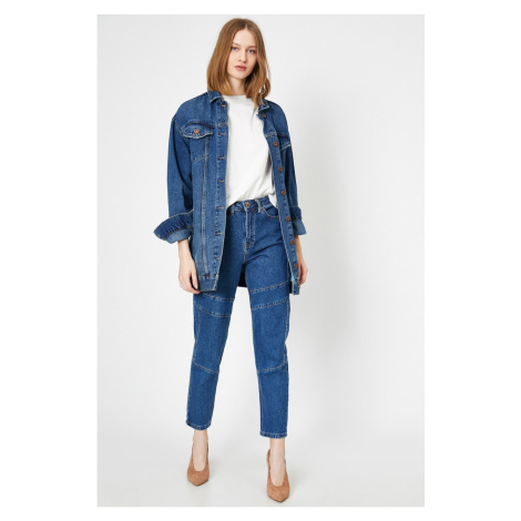 Koton Women's Blue Mom Jeans