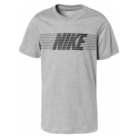 Nike Sportswear Koszulka czarny / nakrapiany szary