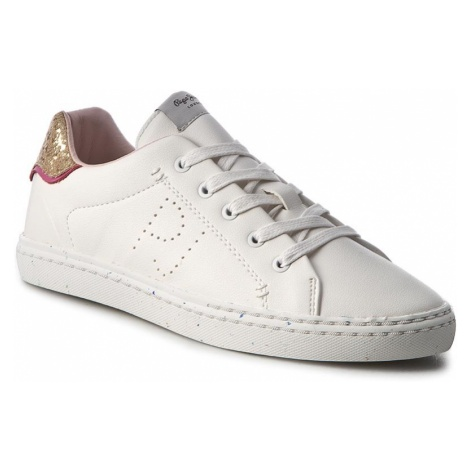 Sneakersy PEPE JEANS - Halley Basic PGS30254 White 800