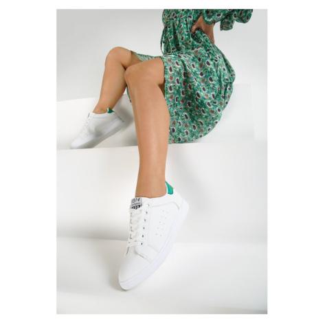 Biało-Zielone Buty Sportowe Tune of Love