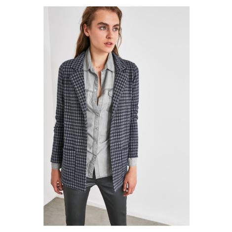 Trendyol Indigo Pötikareli Knitted Jacket