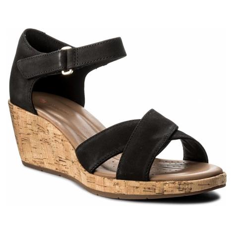 Sandały CLARKS - Un Plaza Cross 261336594 Black Nubuck