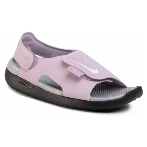 Sandały NIKE - Sunray Adjust 5 (GS/PS) AJ9076 501 Iced Lilac/White/Lt Smoke Grey